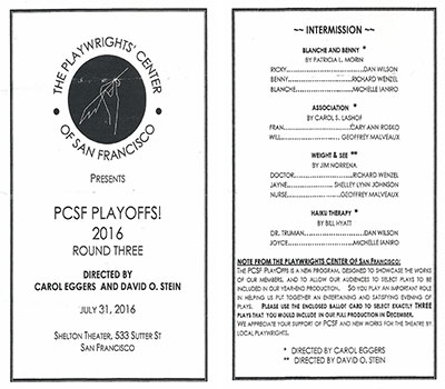 PCSF Playoffs program